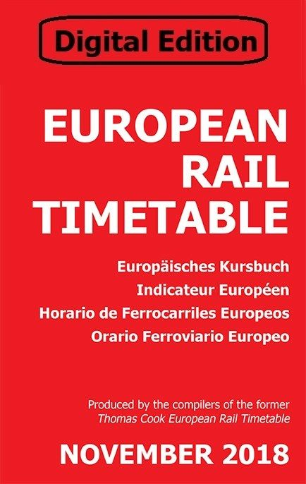 November 2018 - European Rail Timetable