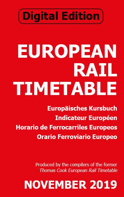 October 2019 European Rail Timetable