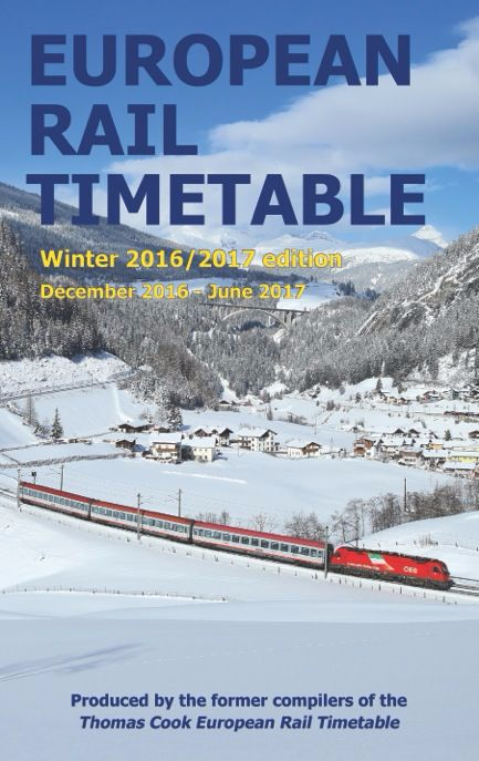 European Rail Timetable, Winter 2016/17
