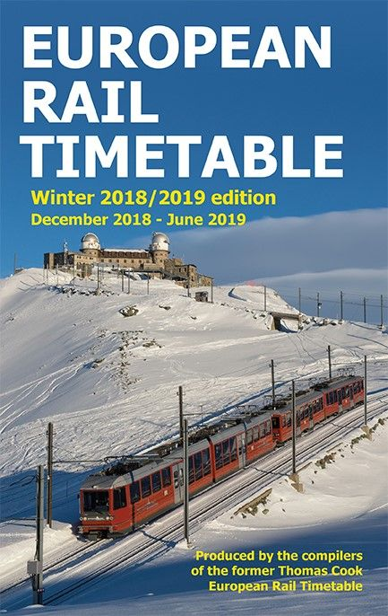 European Rail Timetable, Winter 2017/18